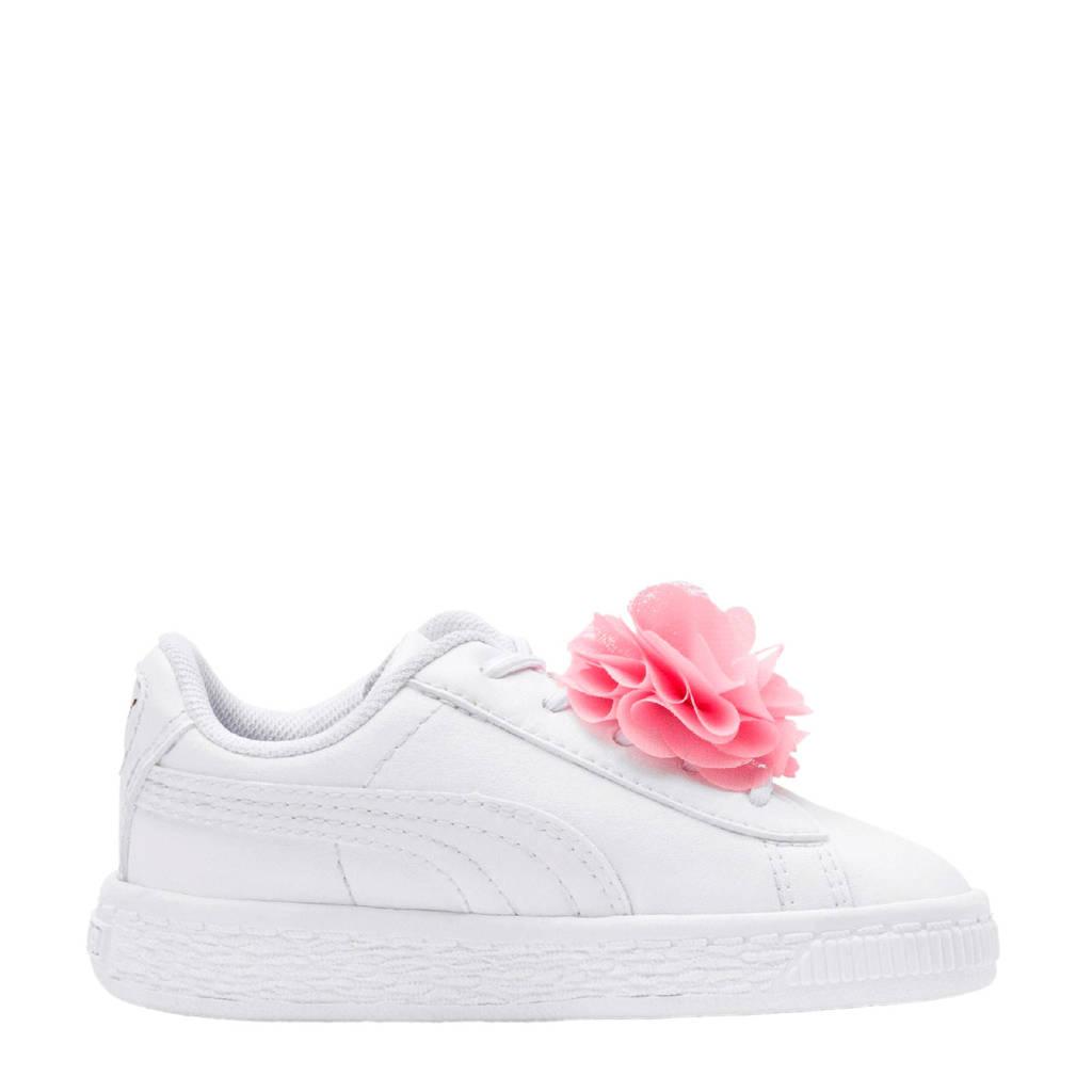 d1c612e8809 Puma Basket Flower AC Inf sneakers wit, Wit/roze
