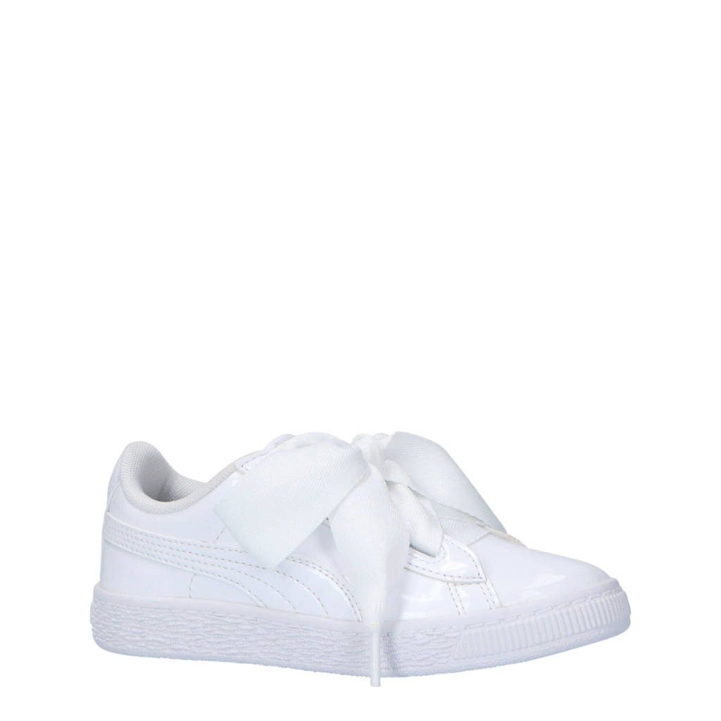 Puma  Basket Heart Patent sneakers wit, Wit