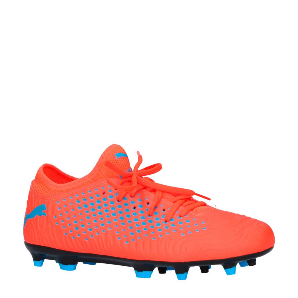 Puma   Future 19.4 FG/AG Sr. voetbalschoenen, Oranje/blauw