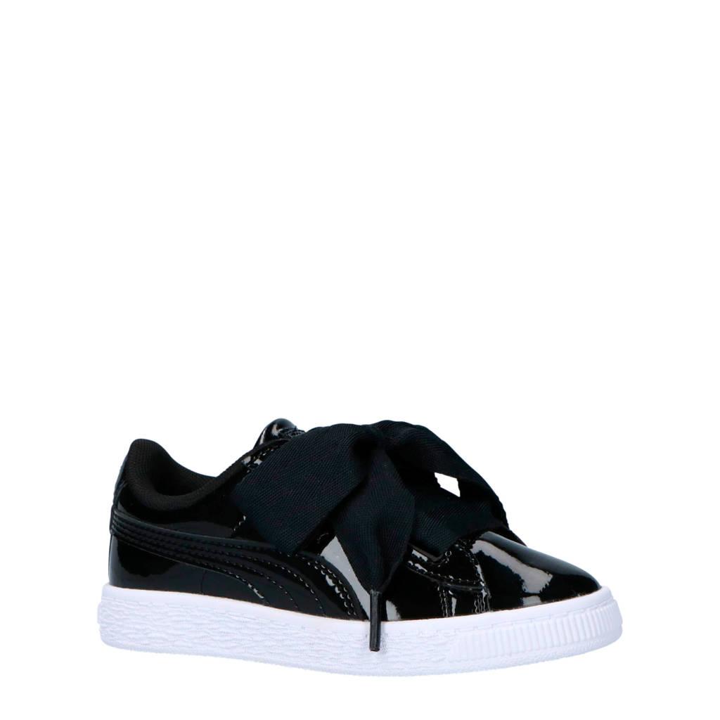 Puma  Basket Heart Patent sneakers zwart, Zwart