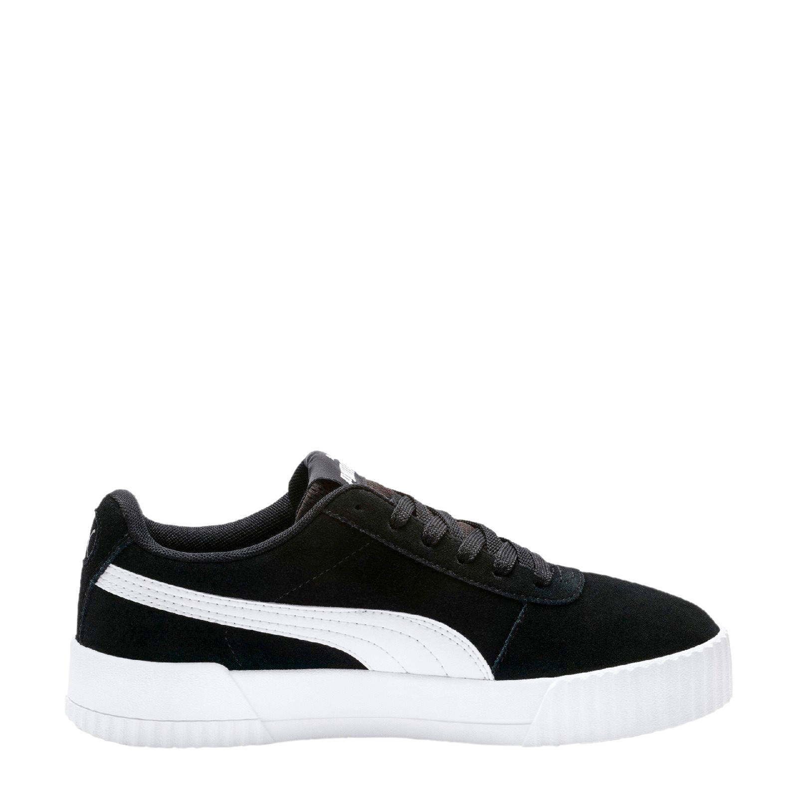 Puma Carina suède sneakers zwart | wehkamp