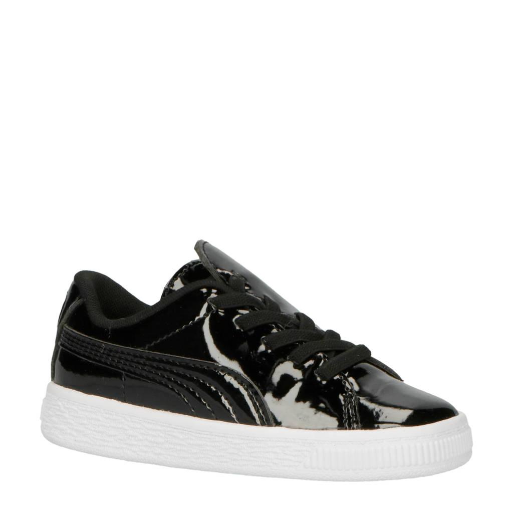 Puma  Basket Crush Patent sneakers zwart, Zwart