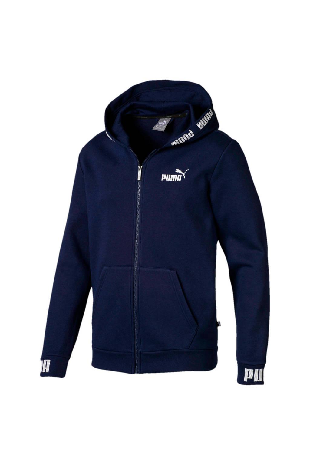 Puma   vest donkerblauw, Donkerblauw/wit