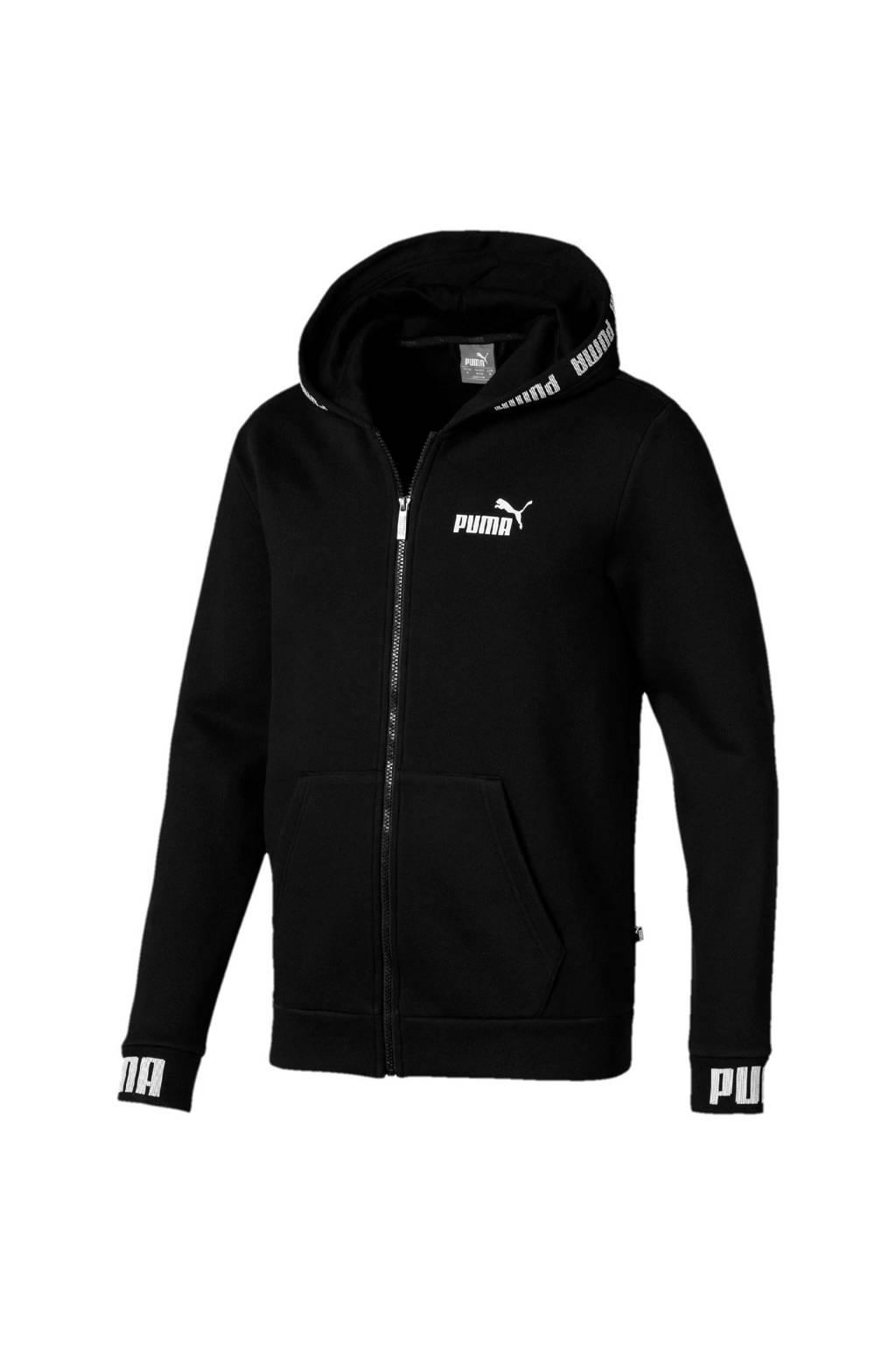 Puma   vest zwart, Zwart/wit