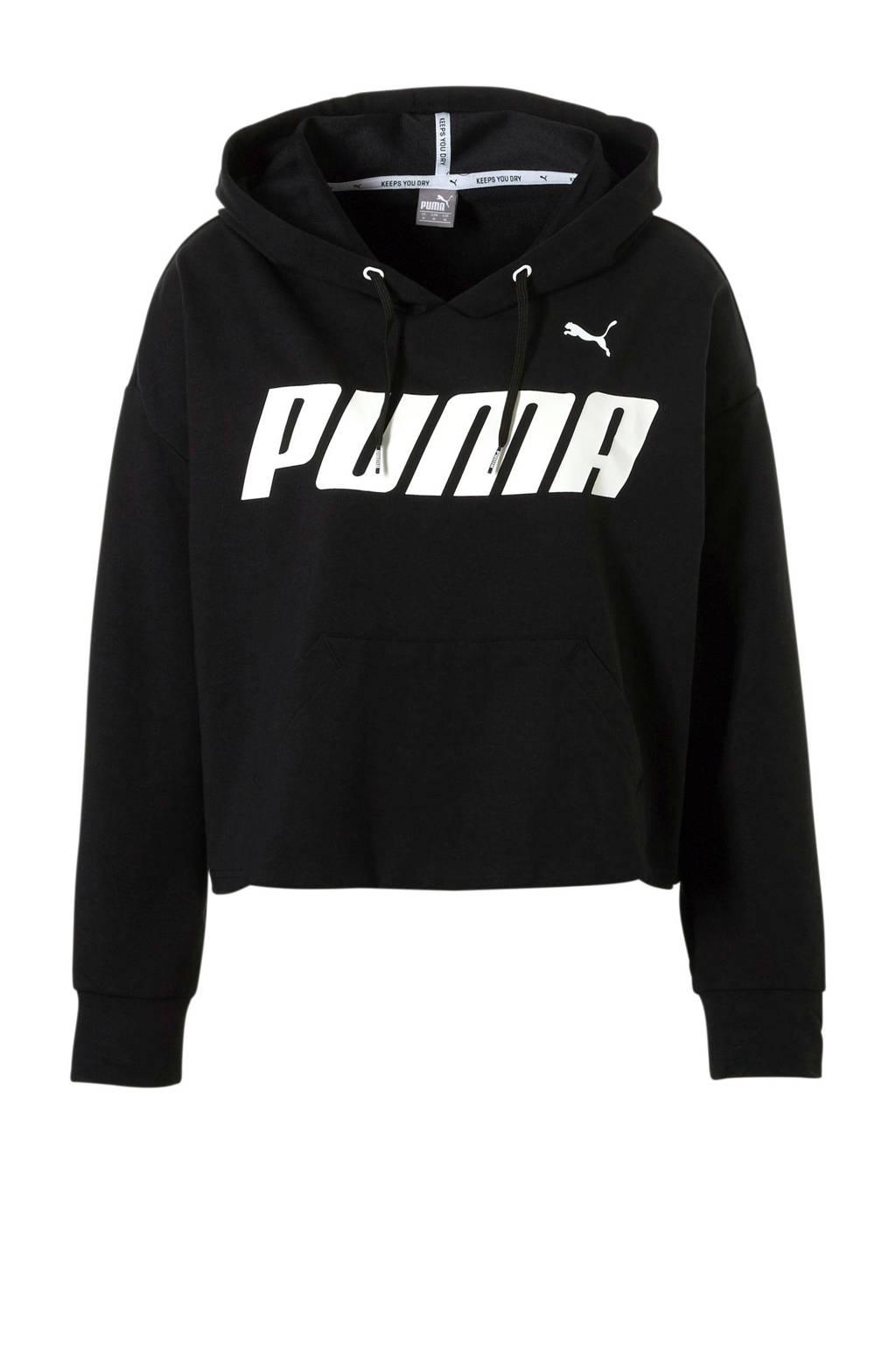 Puma hoodie zwart, Zwart/wit