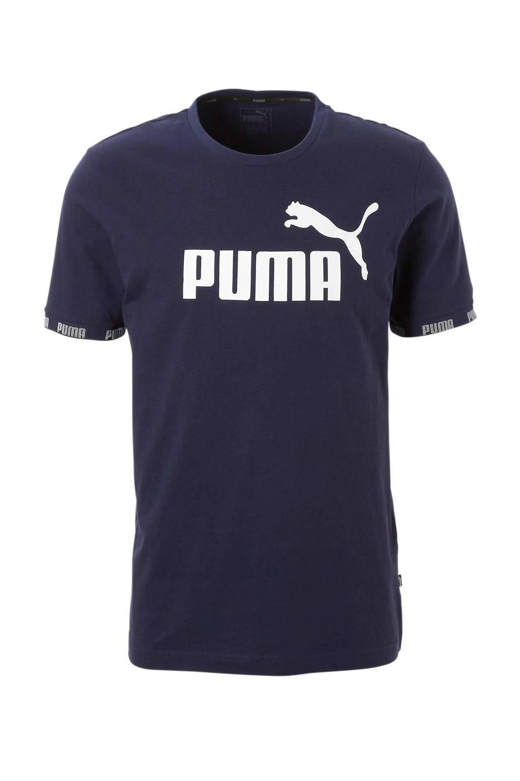 Puma   T-shirt marine, Marine
