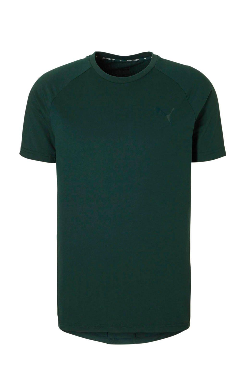 Puma   sport T-shirt donkergroen, Donkergroen