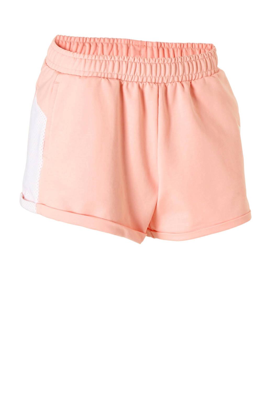 Puma sweatshort roze, zalmroze/wit