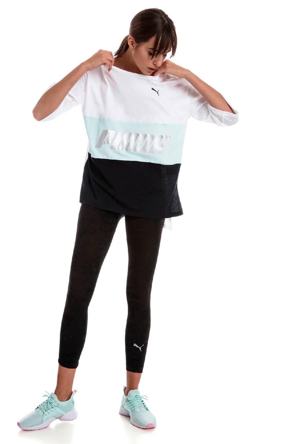 Puma T-shirt wit, Wit/grijs/zwart
