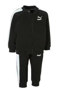 Puma   joggingpak zwart, Zwart/wit