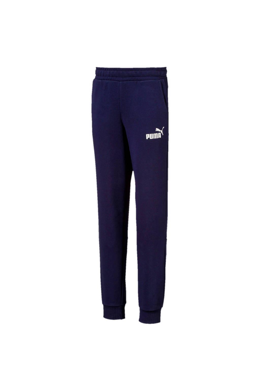 Puma   joggingbroek donkerblauw, Donkerblauw/wit