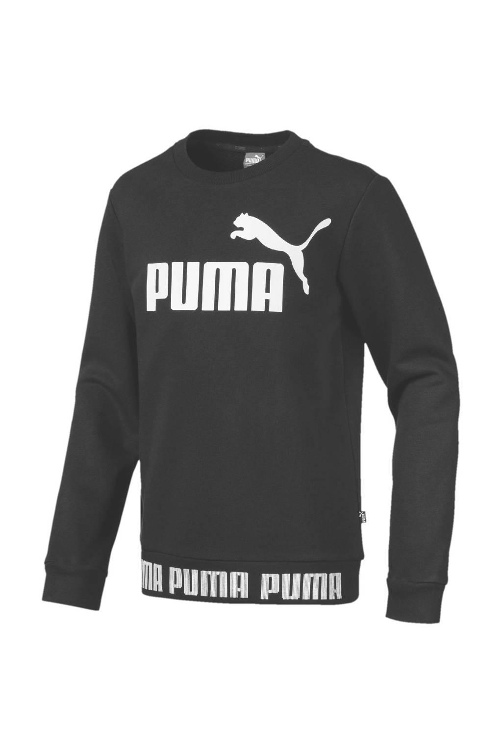 Puma sweater zwart, Zwart/wit