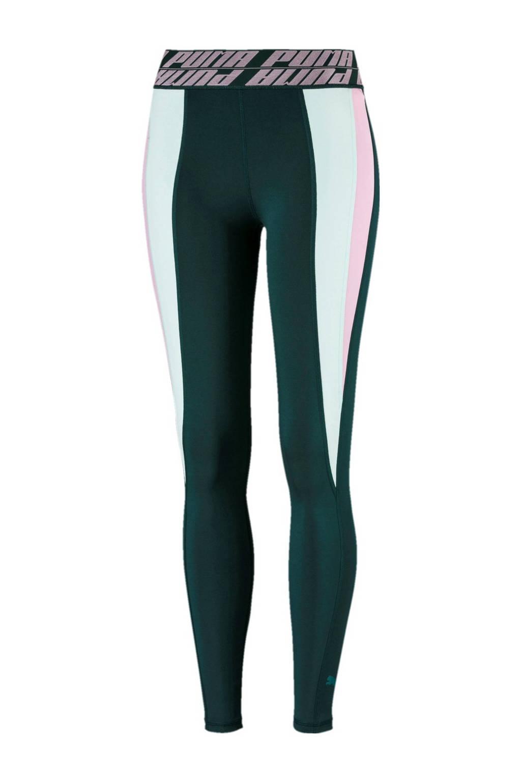 Puma sportlegging groen, Groen/roze