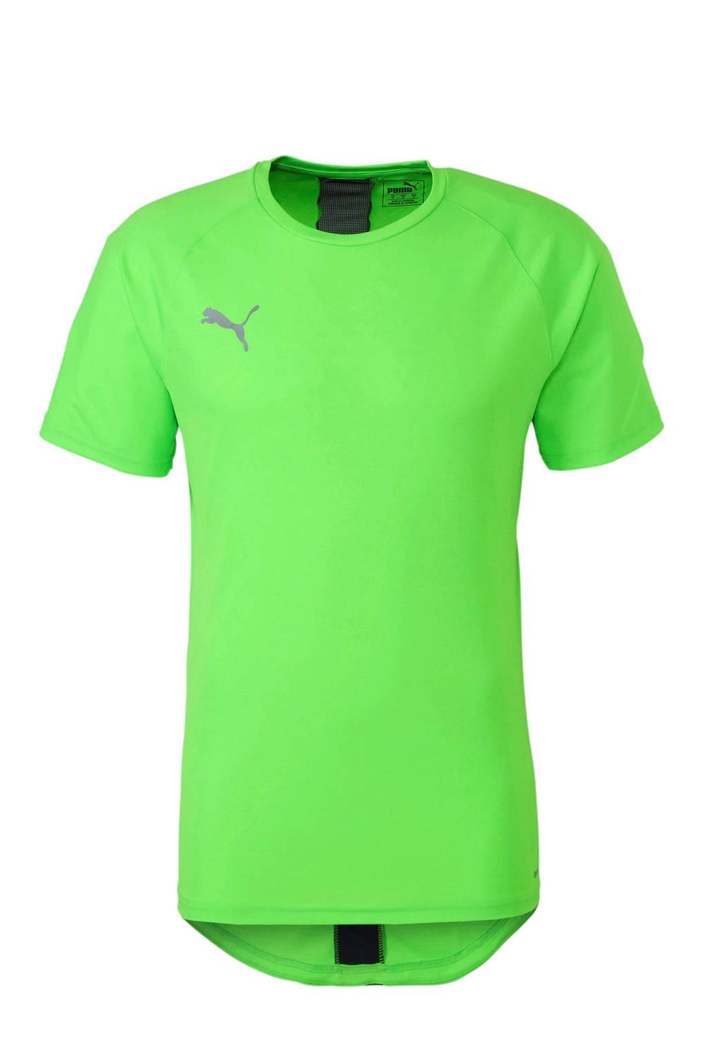 Puma   sport T-shirt neongroen, Neon groen