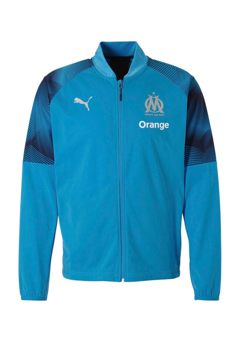 Puma Senior Olympique Lyonnais voetbaljack, Lichtblauw/marine