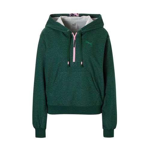 Puma sportsweater groen/roze kopen