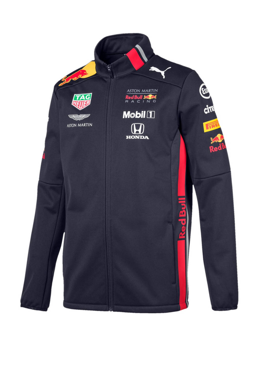 Puma Red Bull Racing softshell jack, Donkerblauw