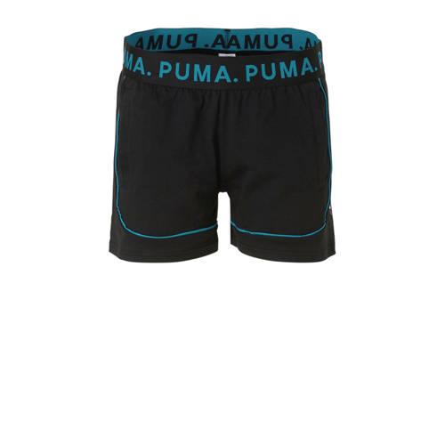 Puma short zwart-aqua