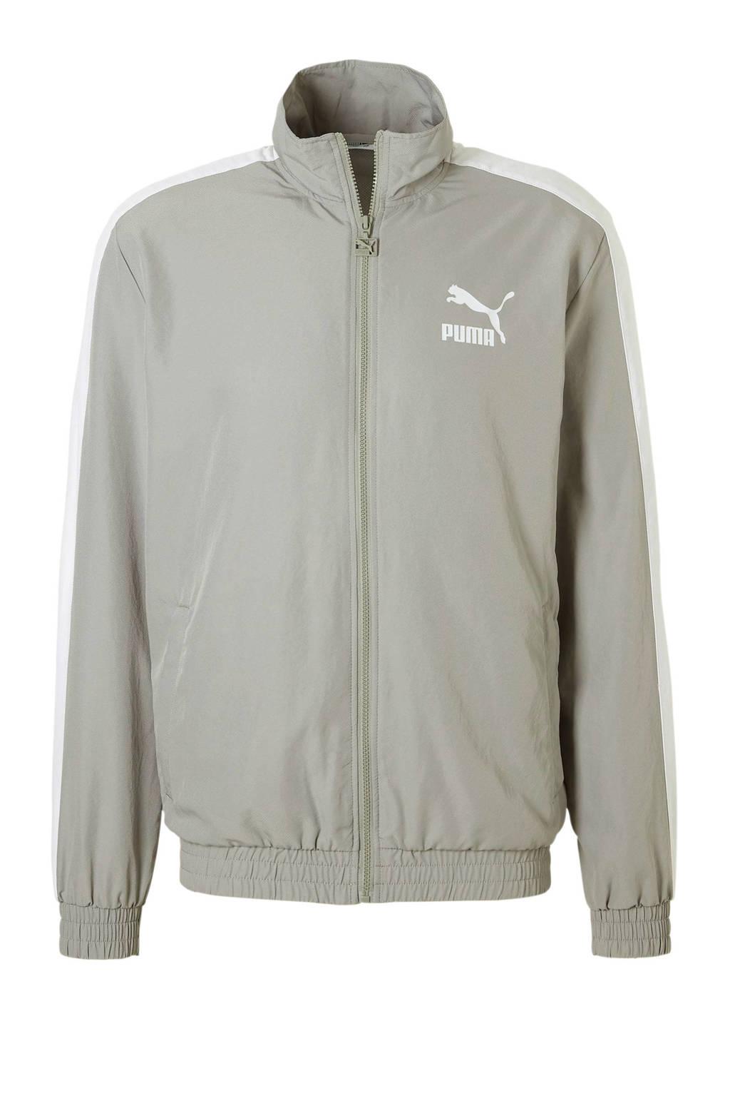 Puma   vest, Lichtgrijs/wit