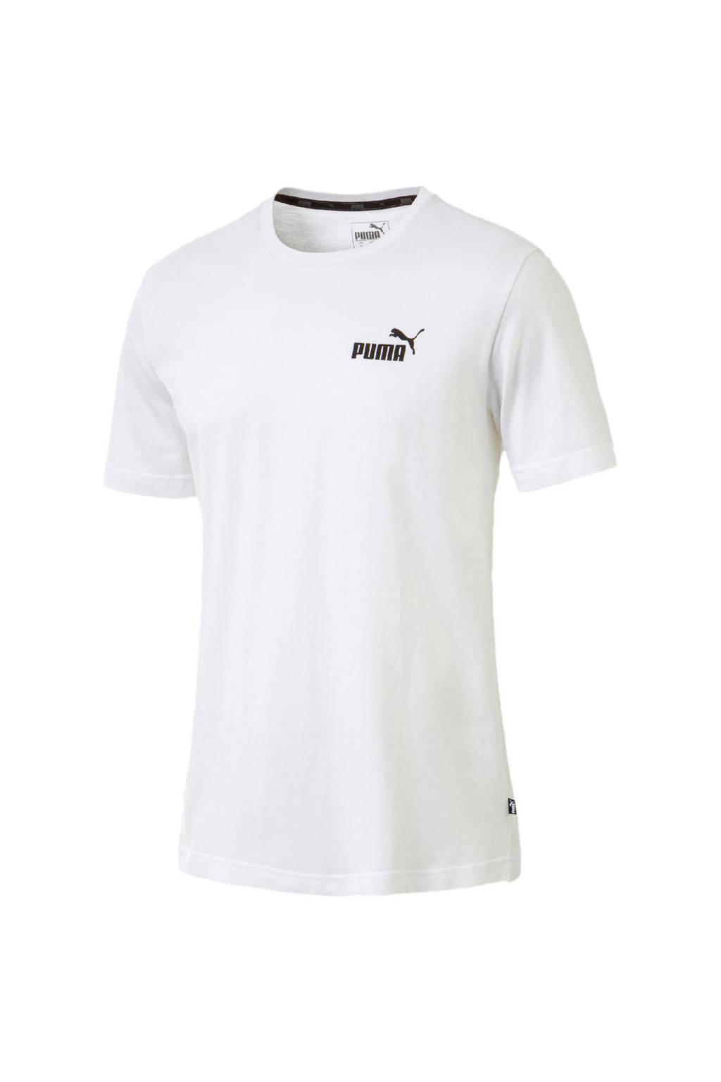 Puma   T-shirt wit, Wit/zwart