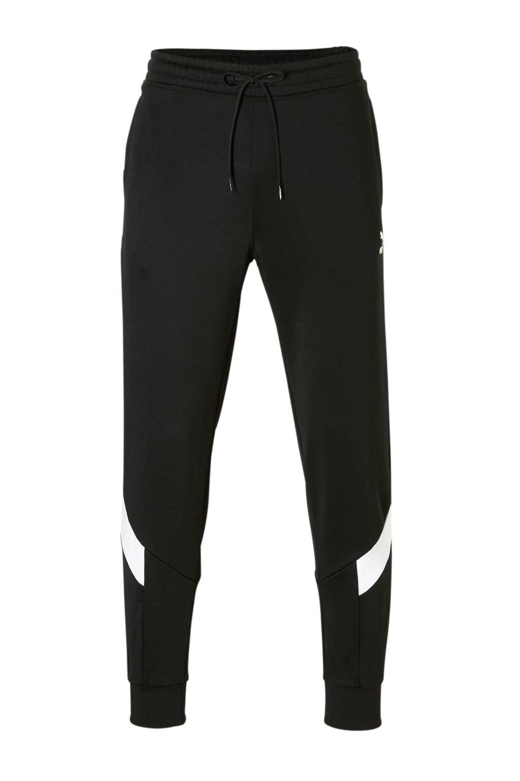 Puma   trainingsbroek zwart, Zwart/wit