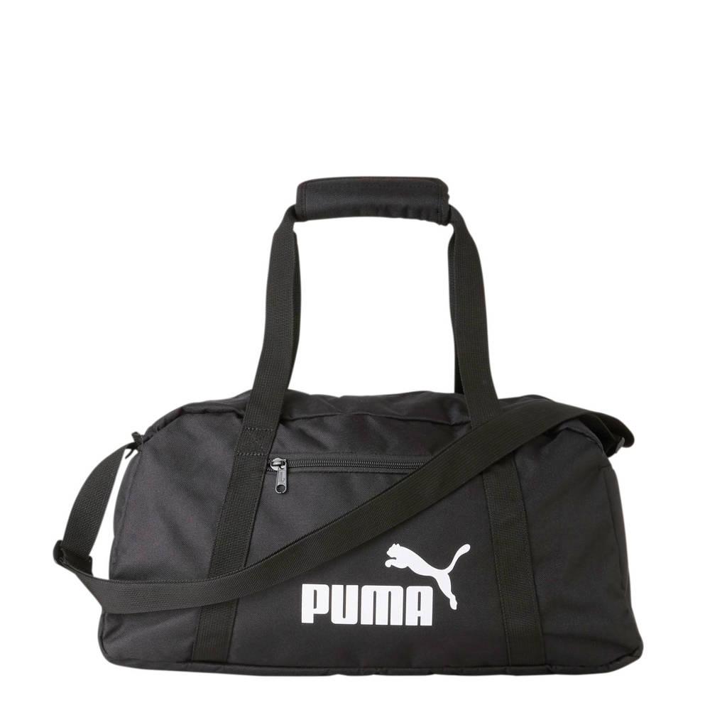 Puma   Phase Sports Bag zwart, Zwart/wit