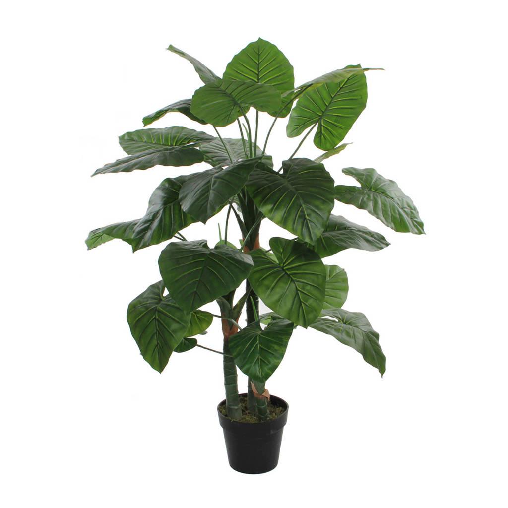 Mica kunstplant Taro (h120 cm), Groen/zwart