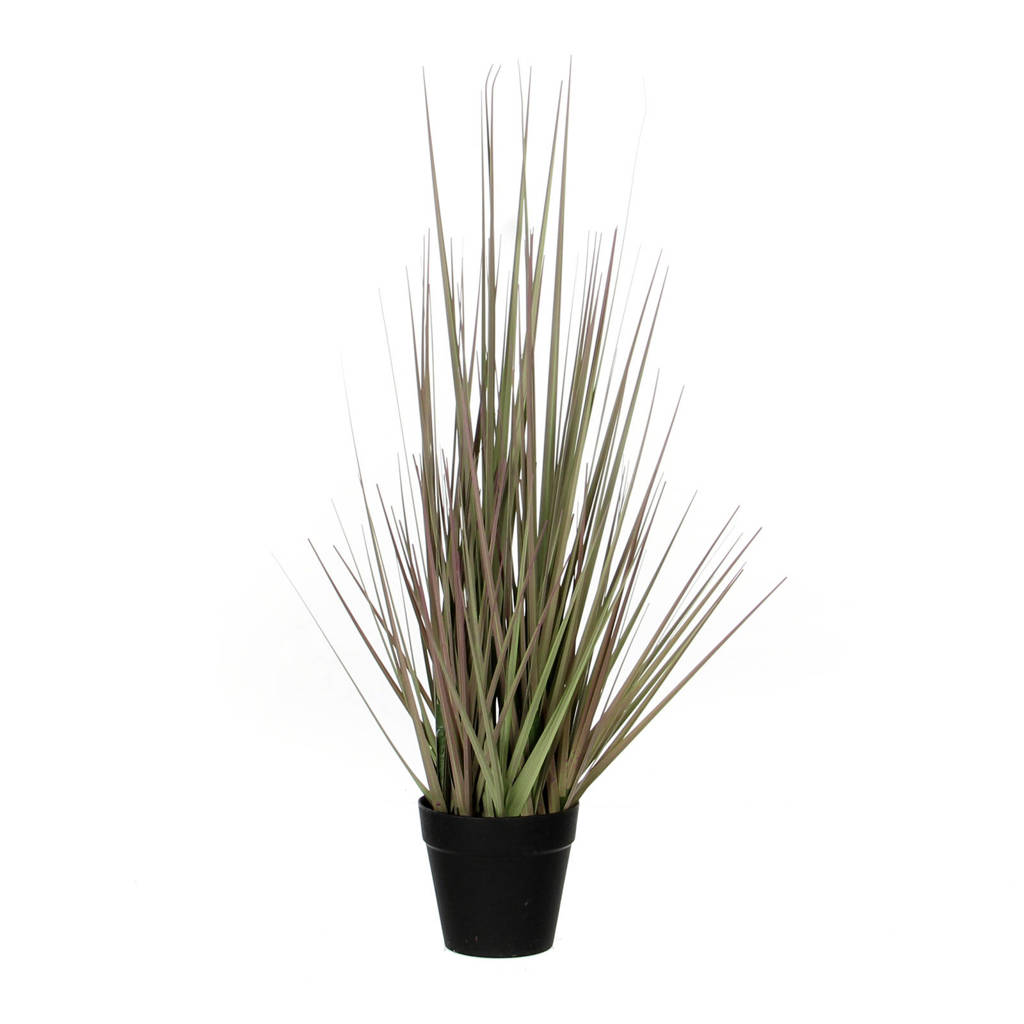 Mica kunstplant gras (h53 cm), Groen/paars/zwart