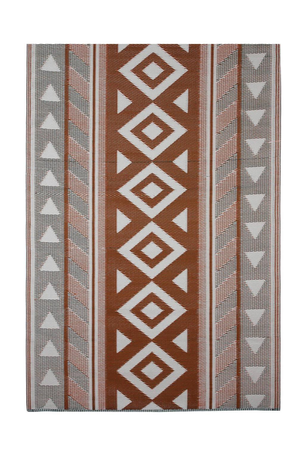Mica Decorations vloerkleed (180x120 cm), Roodbruin