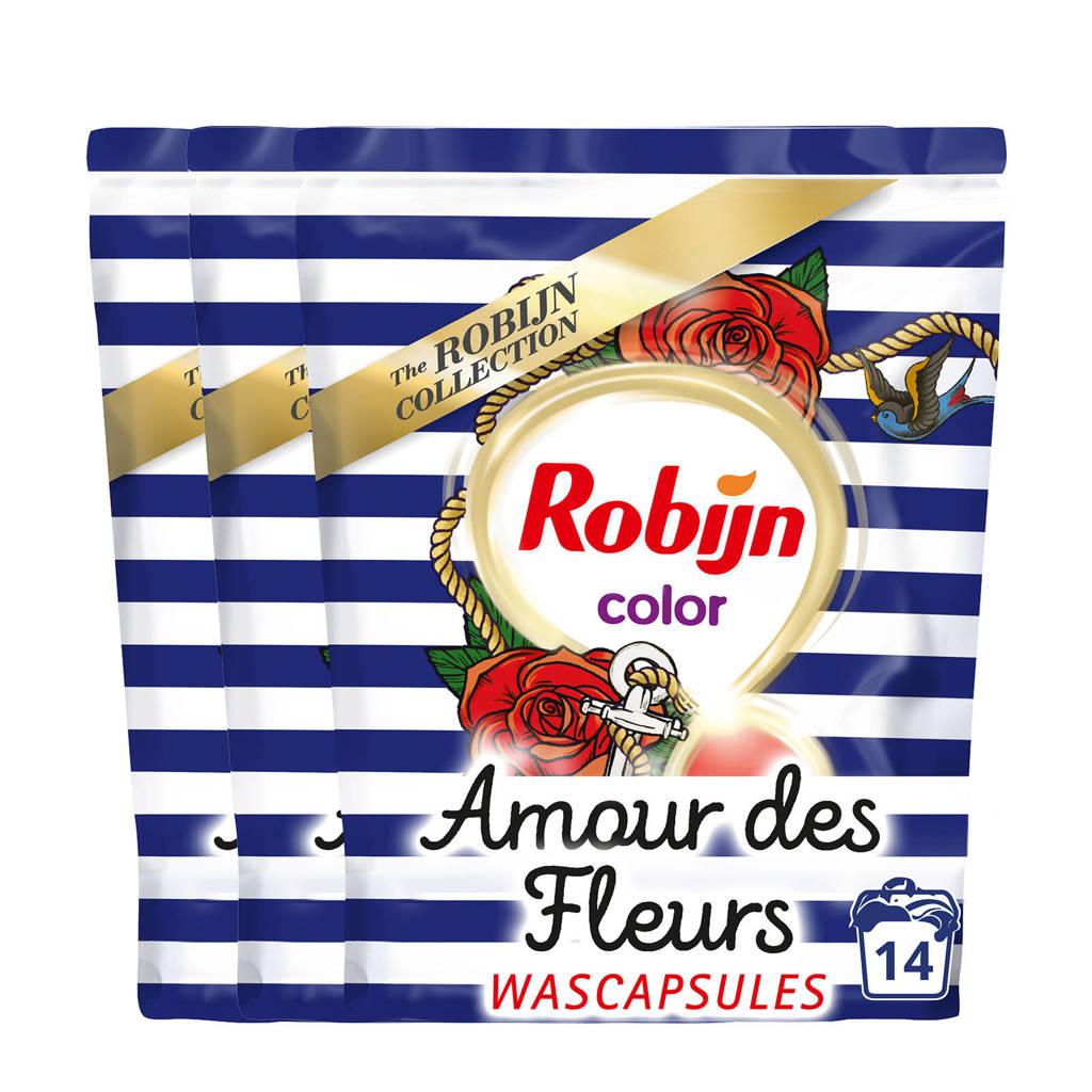 Robijn Amour des Fleurs wasmiddel kleur - 42 wasbeurten - duo wascapsules