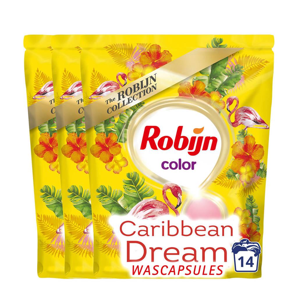 Robijn Caribbean Dream wasmiddel kleur - 42 wasbeurten - duo wascapsules