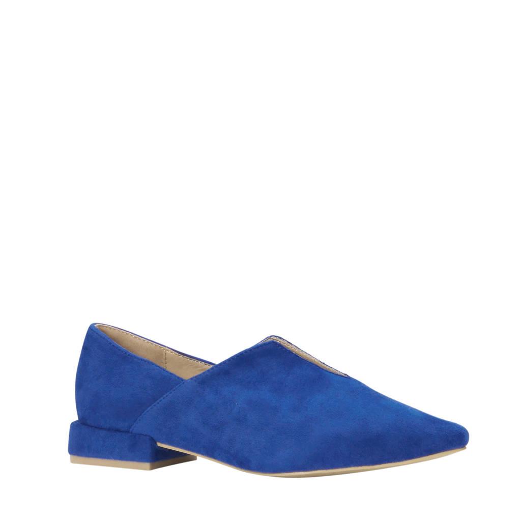 Lost Ink loafer kobaltblauw, Kobaltblauw