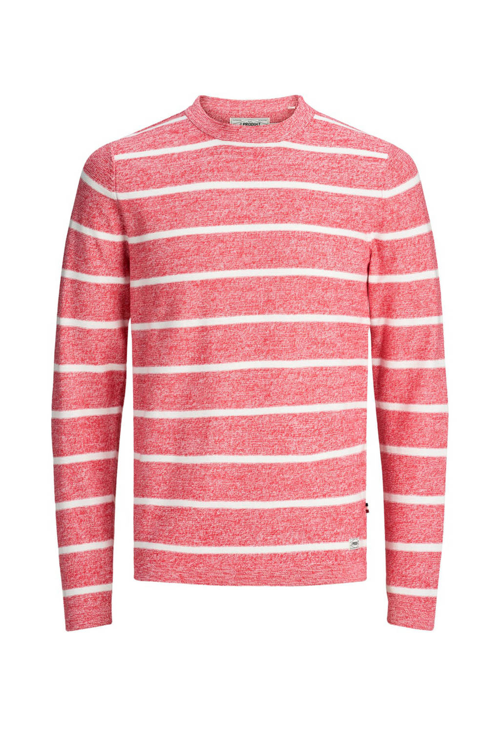 PRODUKT pullover met streep, Rood/wit