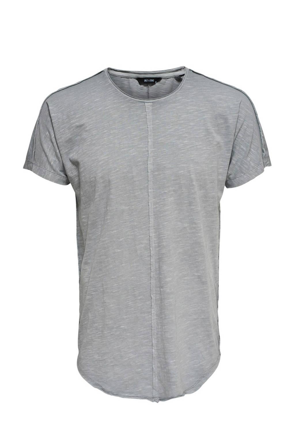 Only & Sons T-shirt, Grijs