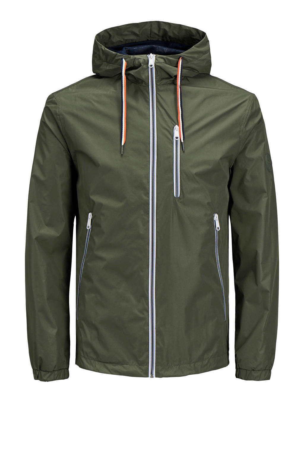 Jack & Jones Originals jas met capuchon, Khakigroen