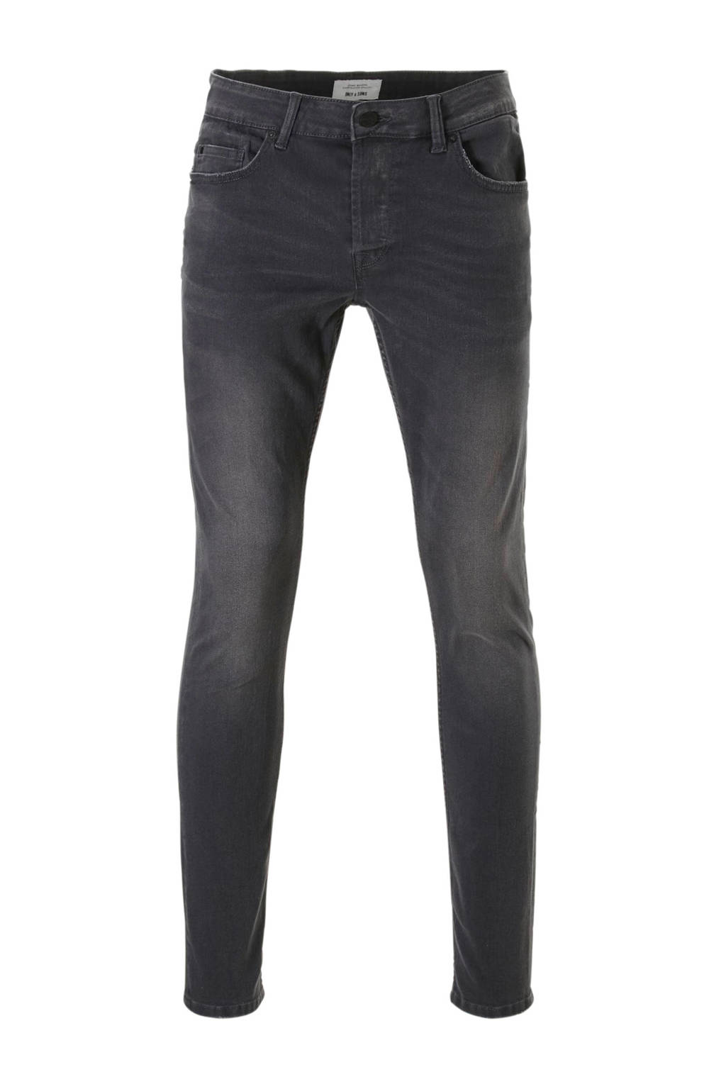 Only & Sons tapered fit jeans, Grijs