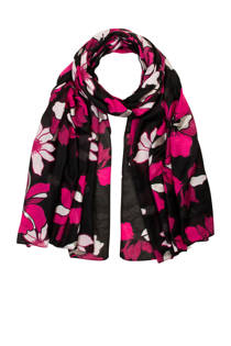 Miss Etam gebloemde sjaal zwart