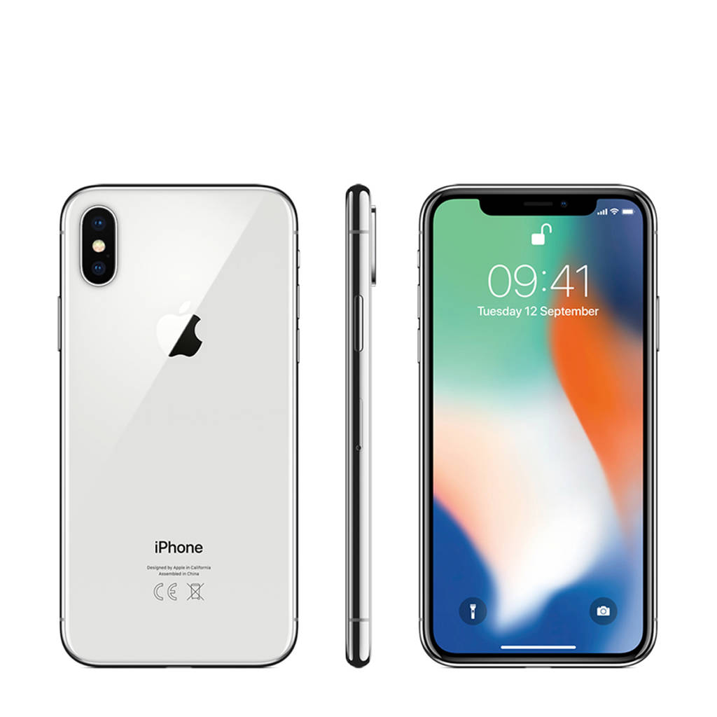 Apple iPhone X 64GB zilver, Zilver