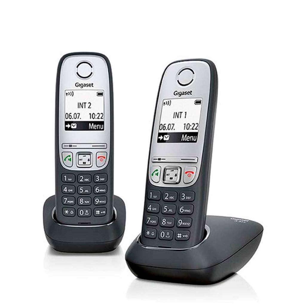 Gigaset A415 Duo huistelefoon, Zwart/zilver