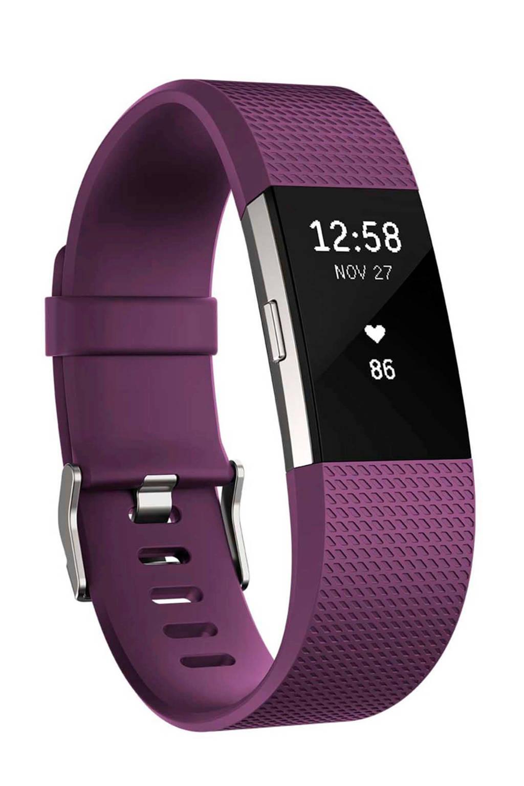 Fitbit Charge 2 activiteiten tracker (maat S), Paars