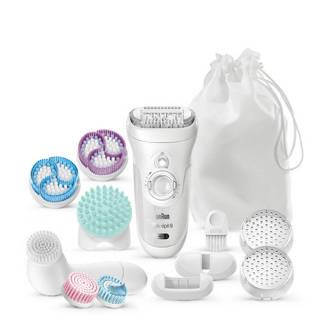 Silk-épil 9 SkinSpa 9-969V Wet & Dry 4-in-1 epilator + gezichtsreinigingsborstel