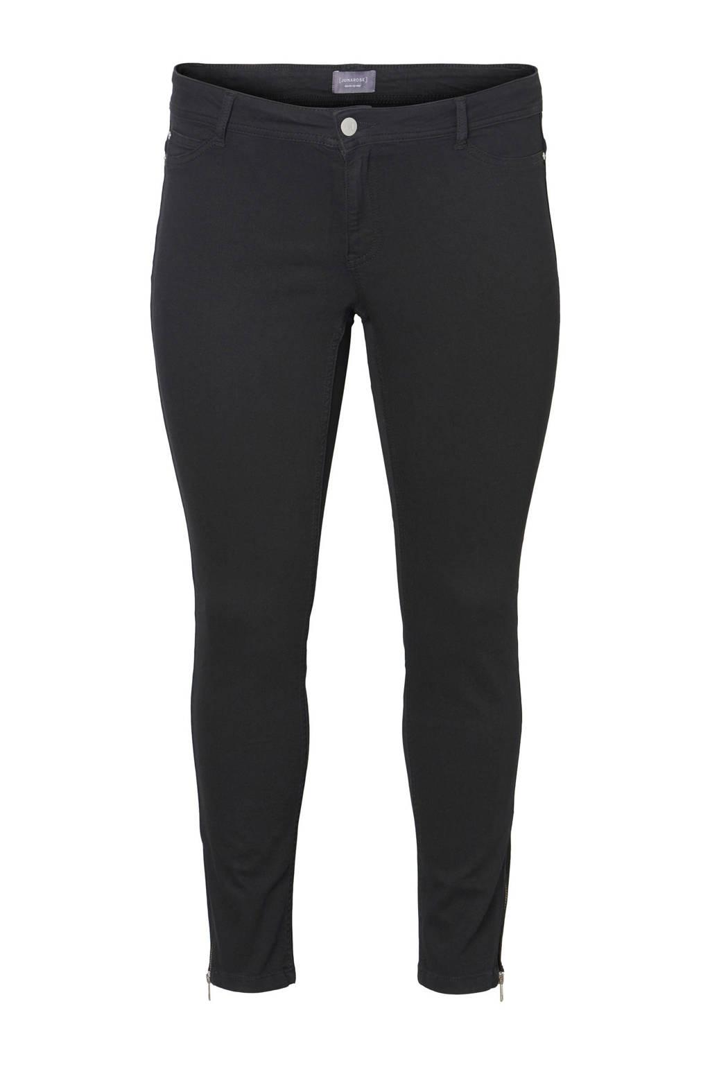 JUNAROSE jeans met rits, Zwart