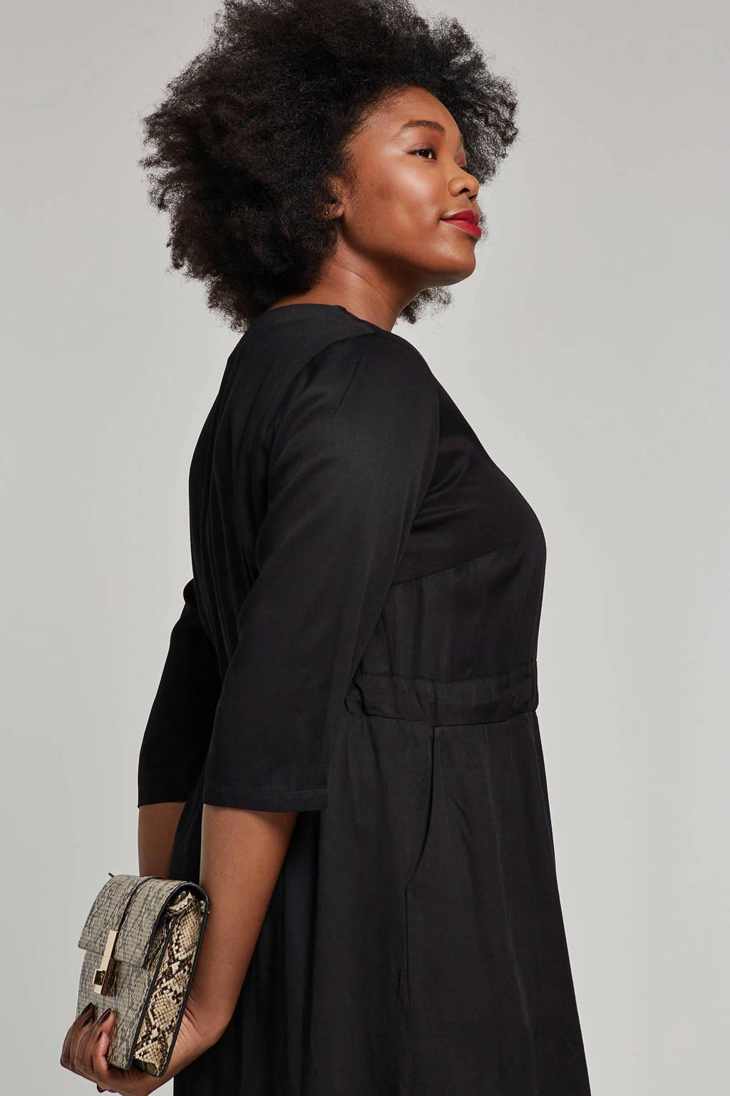 JUNAROSE jurk zwart, Zwart