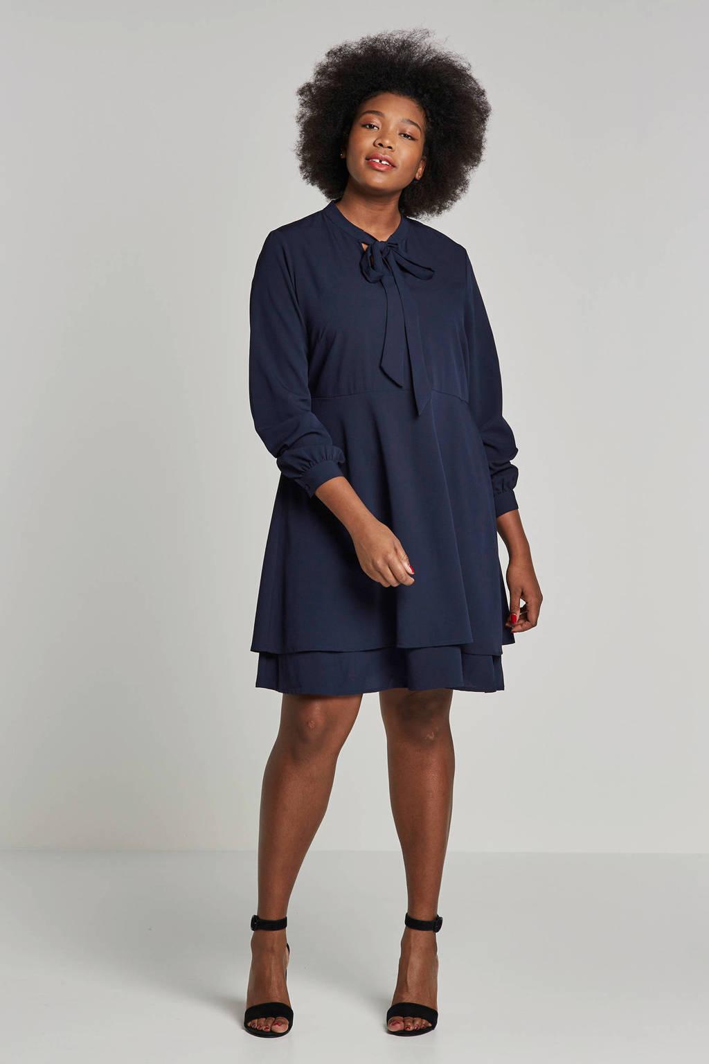 JUNAROSE jurk donkerblauw, Donkerblauw