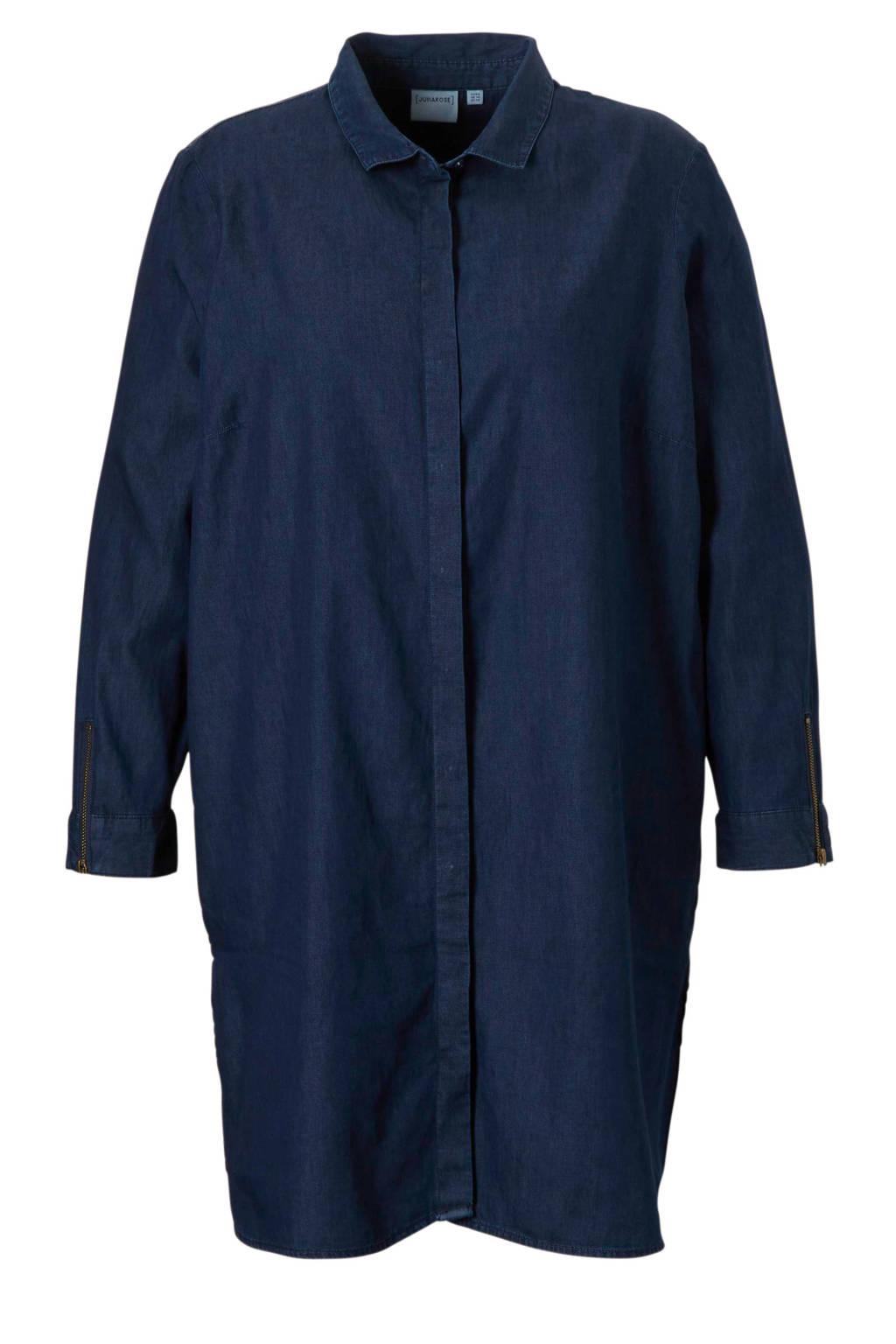 JUNAROSE denim blouse, Donkerblauw
