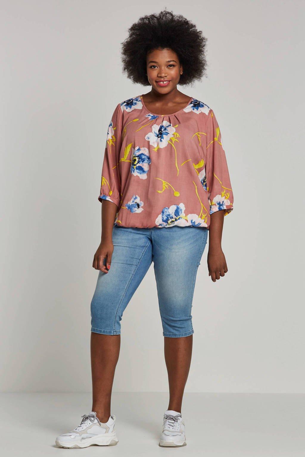 JUNAROSE jeans capri, Lichtblauw