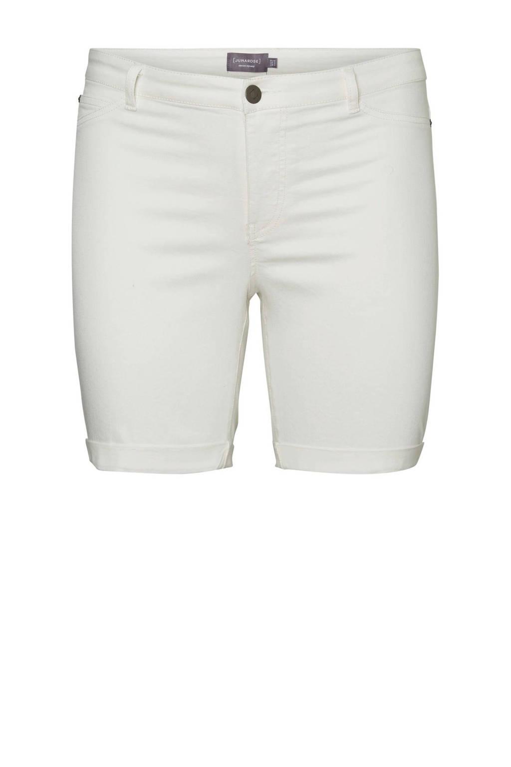 JUNAROSE jeans short wit, Wit