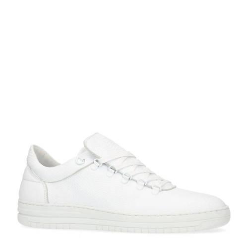 Manfield leren sneakers wit
