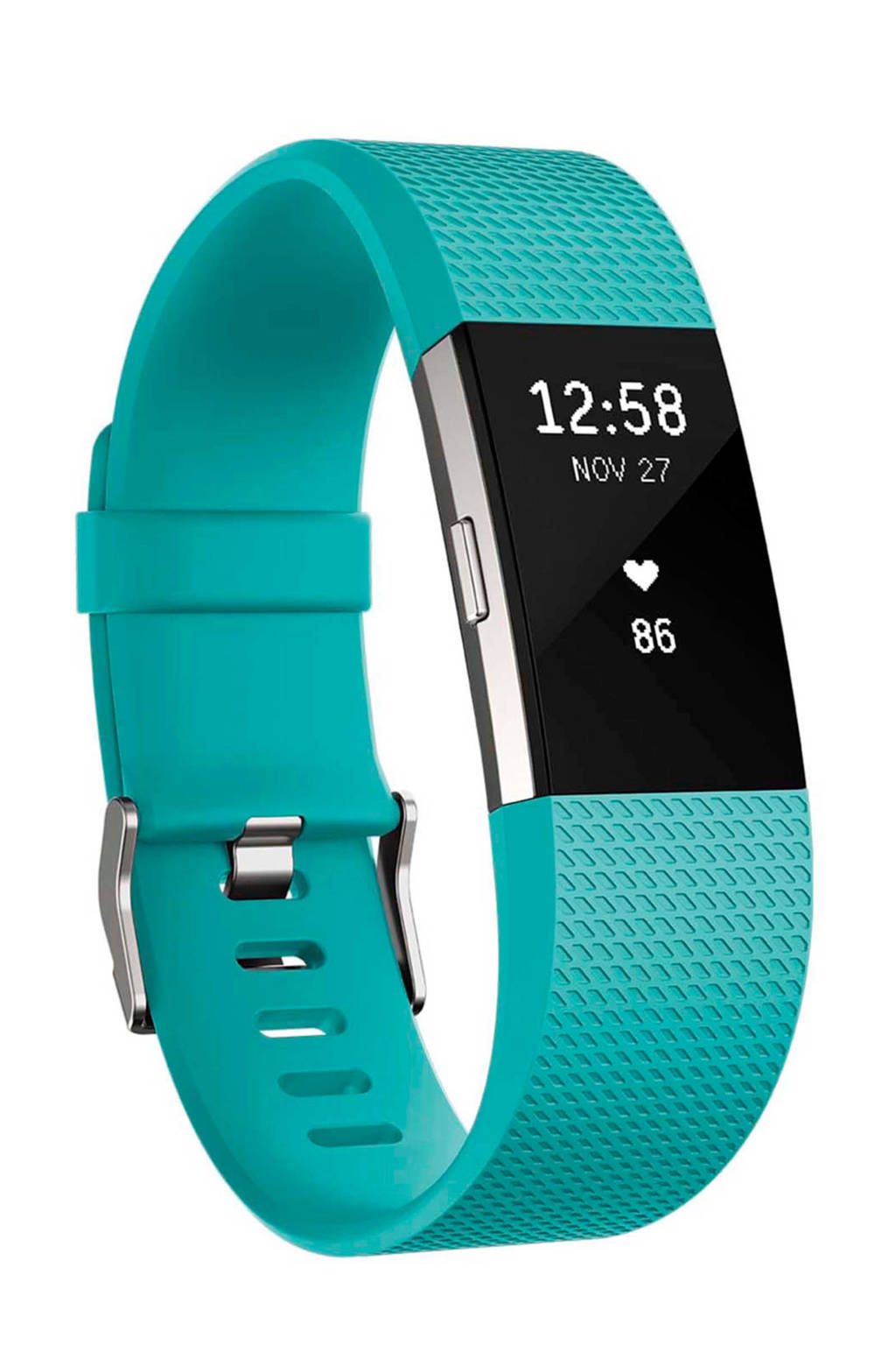 Fitbit Charge 2 activiteiten tracker (maat L), Turquoise