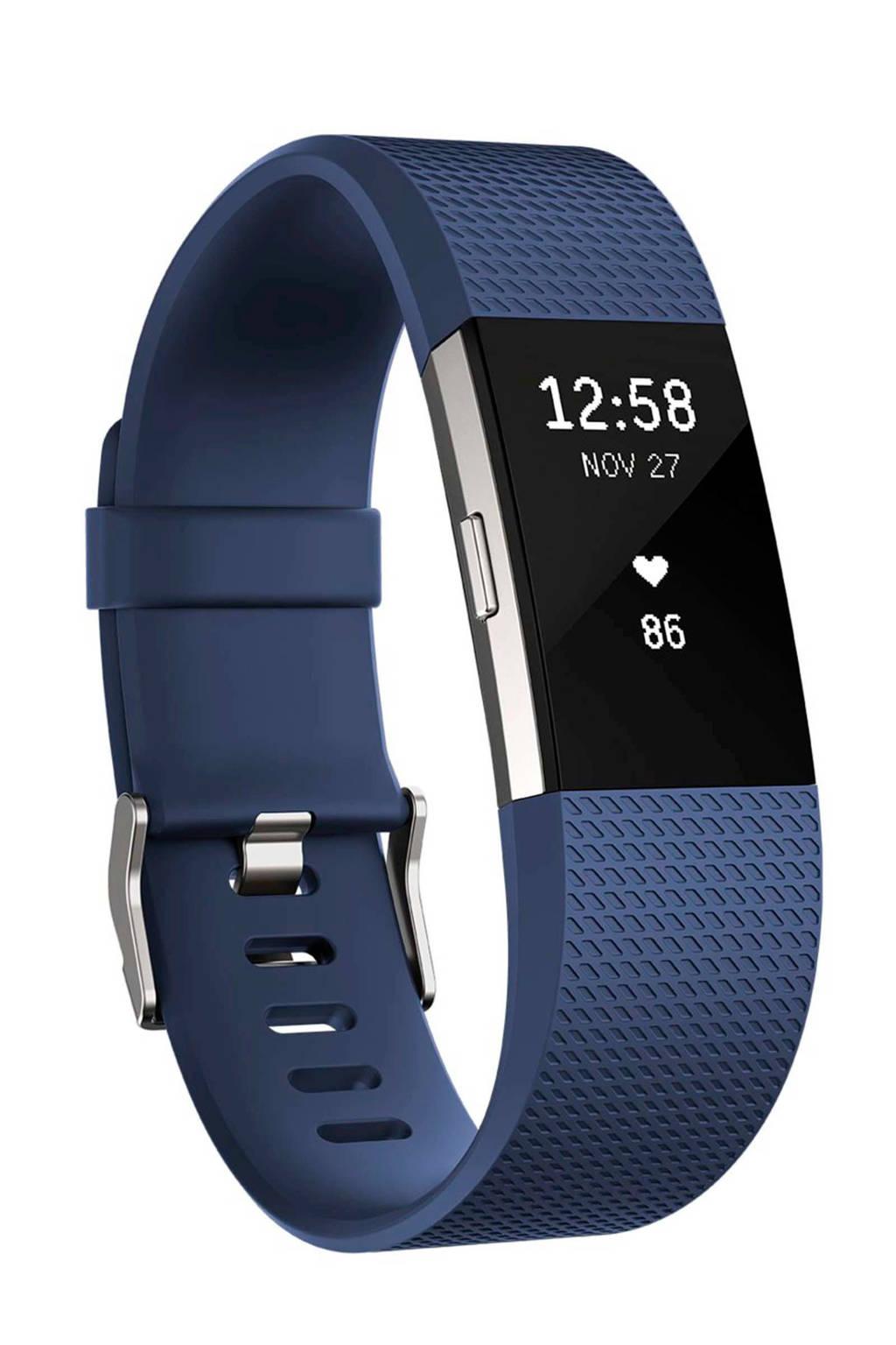 Fitbit Charge 2 activiteiten tracker (maat L), Blauw
